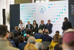 Alejandro Agag, CEO, Formula E, Jean Todt, FIA President, Virginia Elena Raggi, Mayor of Rome, Angel