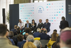 Alejandro Agag, CEO, Formula E, Jean Todt, FIA President, Virginia Elena Raggi, Mayor of Rome, Angelo Sticchi Damiani, President of ACI, Enzo Bianco, Mayor of Catania, Chairman of National Council ANCI in the FIA Smart Cities conference