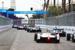 Luca Filippi, NIO Formula E Team,leads Antonio Felix da Costa, Andretti Formula E Team, Jose Maria Lopez, Dragon Racing, Edoardo Mortara, Venturi Formula E Team