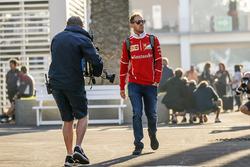 Sebastian Vettel, Ferrari with his PA Britta Roeske