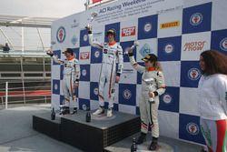 Podio Gara 2. Nicolò Liana, Seat Motor Sport Italia, Guido Sciaguato, Seat Motor Sport Italia, Alessandra Brena, Seat Motor Sport Italia