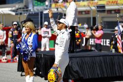 Lewis Hamilton, Mercedes AMG F1, el presentación de la carrera
