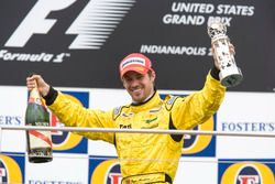 Tiago Monteiro, Jordan Toyota EJ15 on the podium