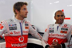 Jenson Button, McLaren, avec Lewis Hamilton, McLaren