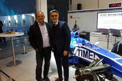 Fréderic Vasseur, CEO e team principal del Sauber F1 Team, con Lorenzo Senna, country leader di Motorsport.com Svizzera