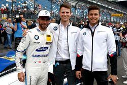 Гонщик BMW Team RBM Филипп Энг и участники BMW Motorsport Juniors Нико Менцель и Миккель Йенсен