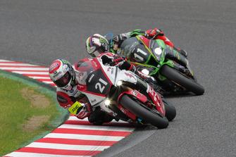 #21 YAMAHA FACTORY RACING TEAM, #11 Kawasaki Team GREEN