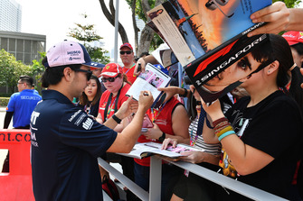 Sergio Perez, Racing Point Force India F1 Team met fans