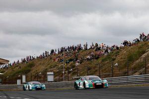 #29 Montaplast by Land-Motorsport Audi R8 LMS: Jake Dennis, Christopher Mies, #28 Montaplast by Land-Motorsport Audi R8 LMS: Sheldon van der Linde, Kelvin van der Linde