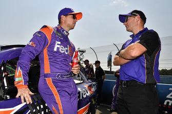 Denny Hamlin, Joe Gibbs Racing, Toyota Camry FedEx Ground and Mike Wheeler