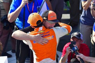 Chase Elliott, Hendrick Motorsports, Chevrolet Camaro SunEnergy1 celebrates in victory lane, Bill Elliott