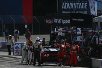 #48 Paul Miller Racing Lamborghini Huracan GT3, GTD - Madison Snow, Bryan Sellers, Pit Stop