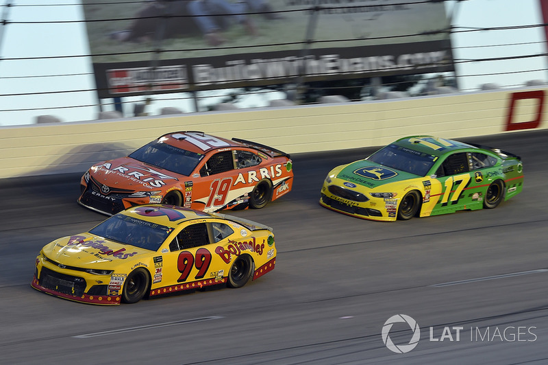 Bojangles' Southern 500 Darlington Raceway, Darlington, SC USA Derrike Cope, StarCom Racing, Chevrolet Camaro Bojangle's, Daniel Suarez, Joe Gibbs Racing, Toyota Camry ARRIS, Ricky Stenhouse Jr., Roush Fenway Racing, Ford Fusion John Deere