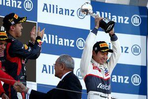 Third place Kamui Kobayashi, Sauber