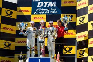 Podium: Race winner René Rast, Audi Sport Team Rosberg, second place Bruno Spengler, BMW Team RBM and third place Gary Paffett, Mercedes-AMG Team HWA