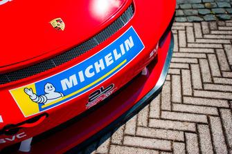 Dettaglio della Porsche GT3 Cup di Giovanni Berton, AB Racing