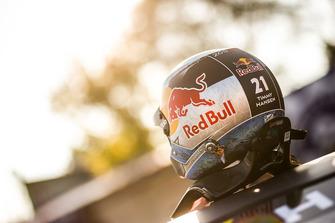 Helmet of Timmy Hansen, Team Peugeot Total