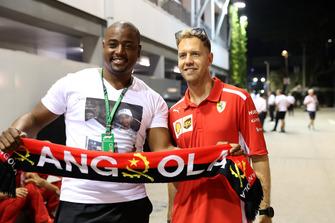 Sebastian Vettel, Ferrari with a fan