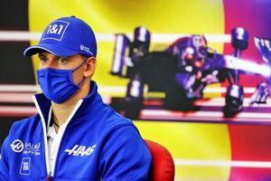 Mick Schumacher, Haas F1, in de persconferentie