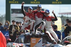 LMGTE Am class winners François Perrodo, Nicklas Nielsen, Alessio Rovera, #83 AF Corse Ferrari 488 GTE EVO