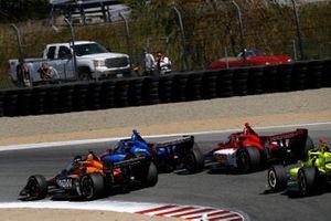Patricio O'Ward, Arrow McLaren SP Chevrolet, Scott Dixon, Chip Ganassi Racing Honda