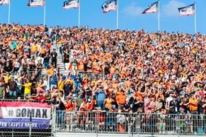 Fans fill the grandstands with orange