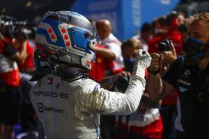 Nyck de Vries, Mercedes-Benz EQ, 2nd position, in Parc Ferme