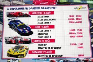 Le Programme des 24H du Mans 2021