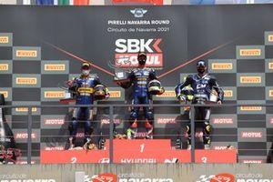Steven Odendaal, Evan Bros. WorldSSP Team, Dominique Aegerter, Ten Kate Racing Yamaha, Luca Bernardi, CM Racing