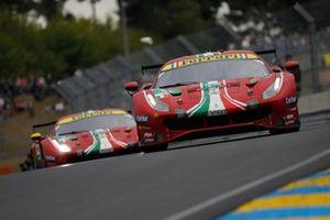 #51 AF Corse Ferrari 488 GTE EVO LMGTE Pro, Alessandro Pier Guidi, James Calado, CÙme Ledogar #52 AF Corse Ferrari 488 GTE EVO LMGTE Pro, Daniel Serra, Miguel Molina, Davide Rigon