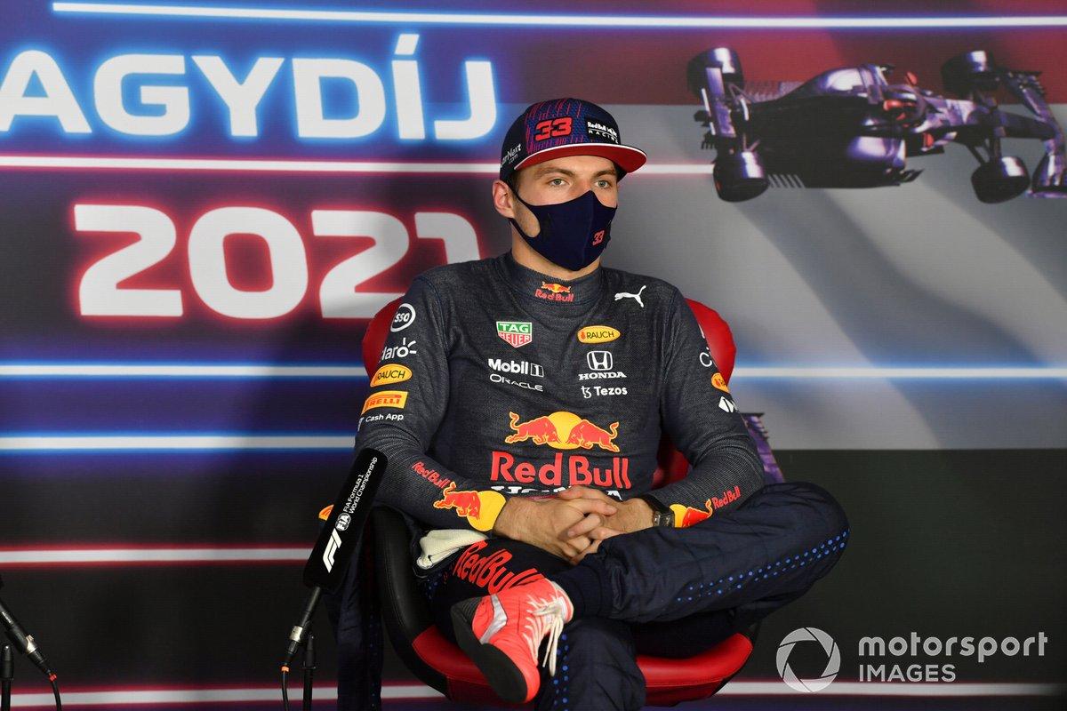 Max Verstappen, Red Bull Racing, in conferenza stampa