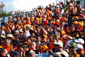 Fans of Max Verstappen, Red Bull Racing, in a grandstand