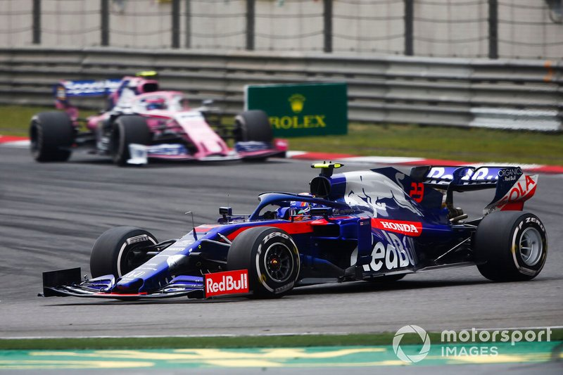 Alexander Albon, Toro Rosso STR14, Lance Stroll, Racing Point RP19