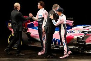 Andrew Green, directeur technique, Lance Stroll, Racing Point F1 Team, Otmar Szafnauer, team principal, et Sergio Perez, Racing Point F1 Team