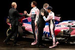 Andrew Green, Racing Point F1 Team Technical Director, Lance Stroll, Racing Point F1 Team, Otmar Szafnauer, Racing Point F1 Team Principal and Sergio Perez, Racing Point F1 Team