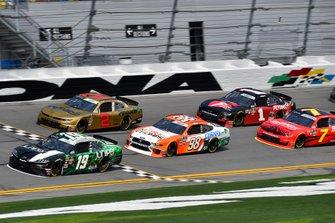 Brandon Jones, Joe Gibbs Racing, Toyota Supra Juniper and Chase Briscoe, Stewart-Haas Racing, Ford Mustang Nutri Chomps/Chewy.com