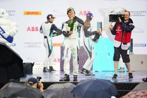 Sérgio Jimenez, 1st position, celebrates on the podium