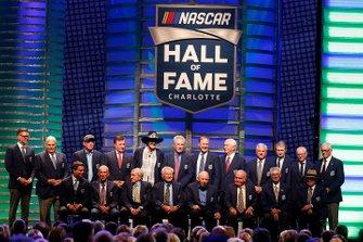 Gruppenfoto: Mitglieder der NASCAR Hall of Fame