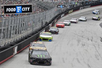 Kurt Busch, Chip Ganassi Racing, Chevrolet Camaro Monster Energy, Chris Buescher, JTG Daugherty Racing, Chevrolet Camaro Bush's Beans