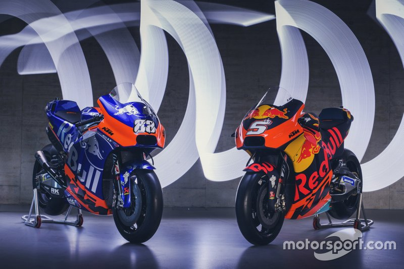 Bikes of KTM Tech 3 Racing and Red Bull KTM Factory Racing
