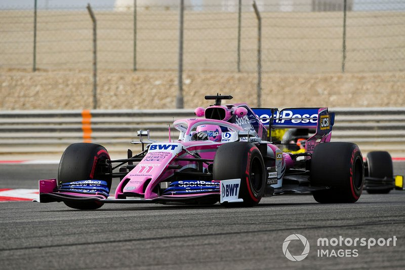 Lance Stroll, Racing Point RP19 and Jack Aitken, Renault R.S. 19