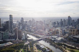 Aerial over Melbourne