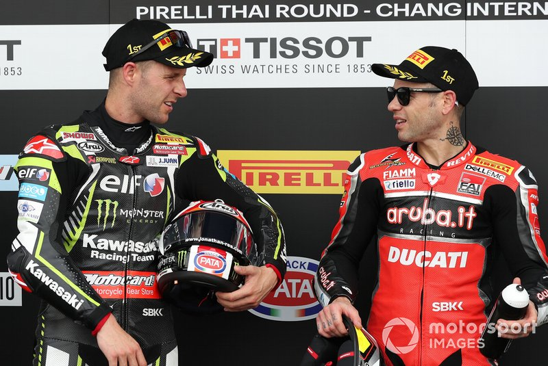 1. Alvaro Bautista, Aruba.it Racing-Ducati Team, 2. Jonathan Rea, Kawasaki Racing