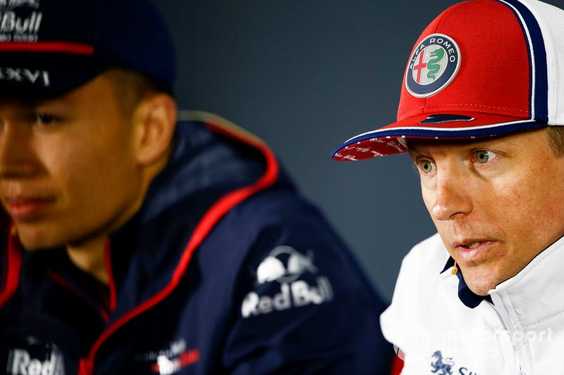 Kimi Raikkonen, Alfa Romeo Racing and Alexander Albon, Toro Rosso in Press Conference