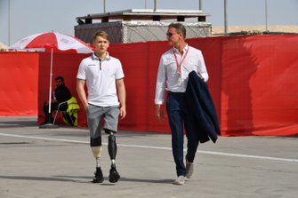 Billy Monger and Presenter David Coulthard