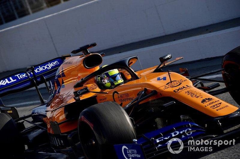Lando Norris, da McLaren, ficou na terceira posição