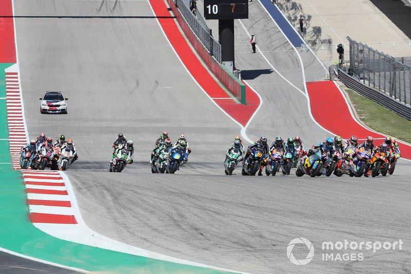 Salida de Moto2 en Austin