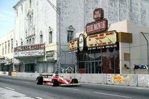 Carlos Reutemann, Ferrari 312T3 passes the adult film cinema