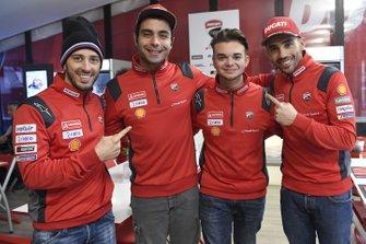 Andrea Dovizioso, Danilo Petrucci, Michele Pirro, Ducati Corse, Andrea Saveri