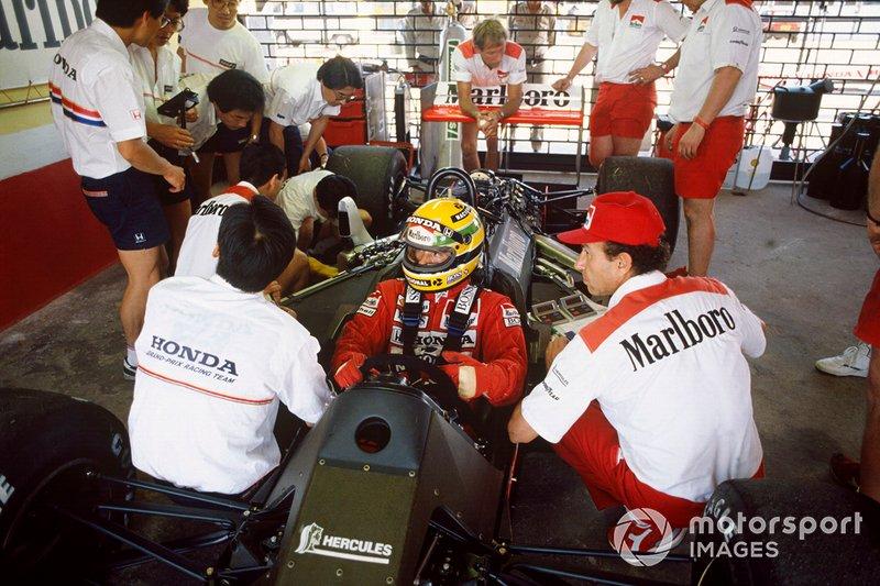 Ayrton Senna, McLaren MP4/4 Honda, Jo Ramirez